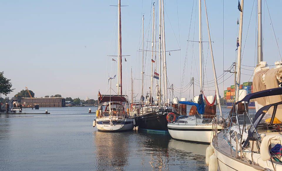 Nord Ostsee Kanal mit dem Segelboot